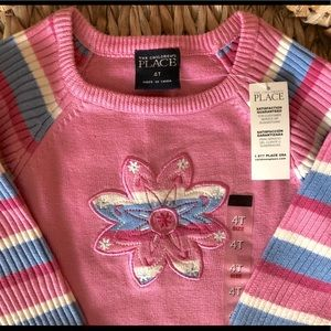 CHILDREN'S PLACE FLOWER SWEATER NWT 4T